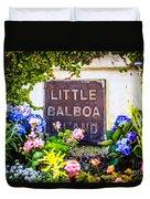 Little Balboa Island Sign In Newport Beach California Duvet Cover