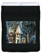 Little Birdhouse In The Woods Duvet Cover