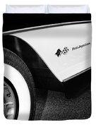 Little Black Corvette Palm Springs Duvet Cover