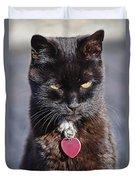 Little Black Kitty Duvet Cover