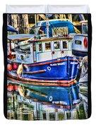 Little Blue Boat Hdr Duvet Cover