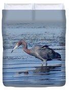 Little Blue Heron Egretta Caerulea Duvet Cover