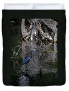 Little Blue Heron Duvet Cover by Skip Willits