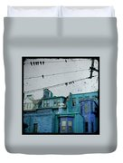 Little Blue Houses Duvet Cover