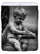 Little Boy Made Of Stone Duvet Cover