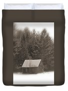 Little Cabin In The Woods Duvet Cover