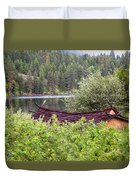 Little Cabin On A Lake Duvet Cover