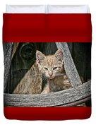Little Charlie - Kitten By Wagon Wheel - Casper Wyoming Duvet Cover