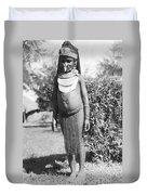 Little Chimbu Girl Papua New Guinea Duvet Cover