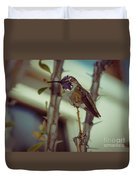 Little Costa's Hummingbird Duvet Cover