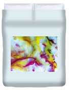 Little Dragon Watercolor Abstract Painting Duvet Cover