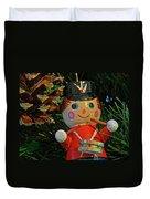 Little Drummer Boy Ornament Duvet Cover