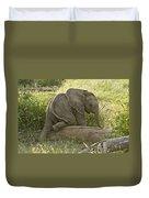 Little Elephant Big Log Duvet Cover