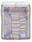 Little Feet-yellow Duvet Cover