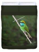 Little Green Bee-eater  Merops Orientalis Duvet Cover