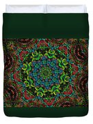 Little Green Men Kaleidoscope Duvet Cover