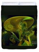 Little Green Seahorse  Duvet Cover