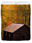 Little Greenbrier Schoolhouse In Autumn  Duvet Cover