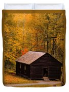 Little Greenbrier Schoolhouse In Autumn  Duvet Cover