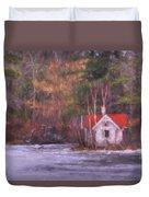 Little House On The Lake Duvet Cover