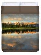 Little Molas Lake At Sunset Duvet Cover