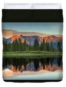 Little Molas Lake Sunset 2 Duvet Cover