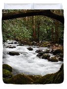 Little Pigeon River In The Smokies Duvet Cover