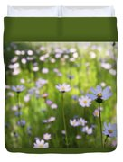 Little Pink Daisies  Duvet Cover