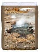 Little Pool Geyser At Black Sands Geyser Basin Duvet Cover