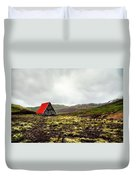 Little Red Cabin Duvet Cover