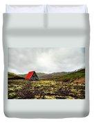 Little Red Cabin Duvet Cover