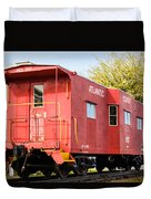 Little Red Caboose Duvet Cover