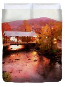 Little River Bridge At Sunset Gatlinburg Duvet Cover