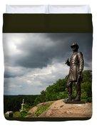Little Round Top Hill Gettysburg Duvet Cover by James Brunker