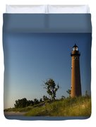 Little Sable Lighthouse By Silver Lake Michigan No.557 Duvet Cover