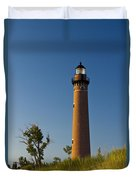 Little Sable Lighthouse On The Dune By Silver Lake Michigan No.560 Duvet Cover