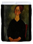 Little Servant Girl Duvet Cover by Amedeo Modigliani