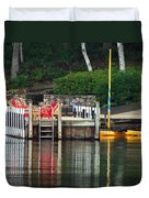 Little Sister Dock Reflection Duvet Cover