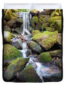 Little Waterfall In Marlay Park Duvet Cover