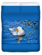 Little White Duck Duvet Cover