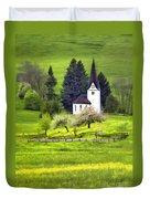 Little White German Church Duvet Cover