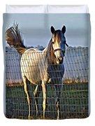 Little White Pony Duvet Cover