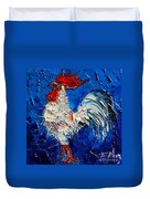 Little White Rooster Duvet Cover