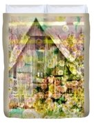Little Witch Cottage Duvet Cover