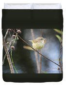 Little Yellow Bird In The Glades Duvet Cover