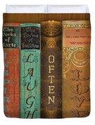 Live-laugh-love-books Duvet Cover