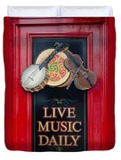 Live Music Daily Duvet Cover