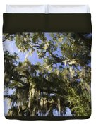 Live Oak Dripping With Spanish Moss Duvet Cover