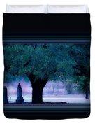 Live Oak Tree In Cemetery Duvet Cover