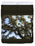 Live Oak Tree With Moss Duvet Cover